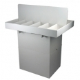 Dump bin with removable dividers