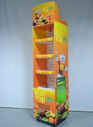 Refrigerated floor display on wheels